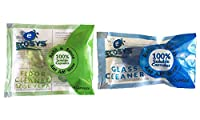 Ecosys Refill Pack of 2: Glass Cleaner & Floor Cleaner water soluble capsule each-1Litre