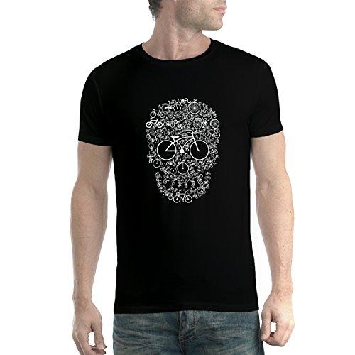 Cráneo de la Bicicleta Ciclismo Hobby Hombre Camiseta Negro XL