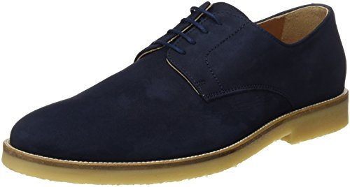 HACKETT Crepe Blucher Nubuck, Zapatos Hombre, Navy, 45 EU