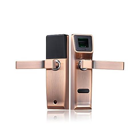 Serrures de porte électroniques à poignée avec verrou biométrique d'empreinte