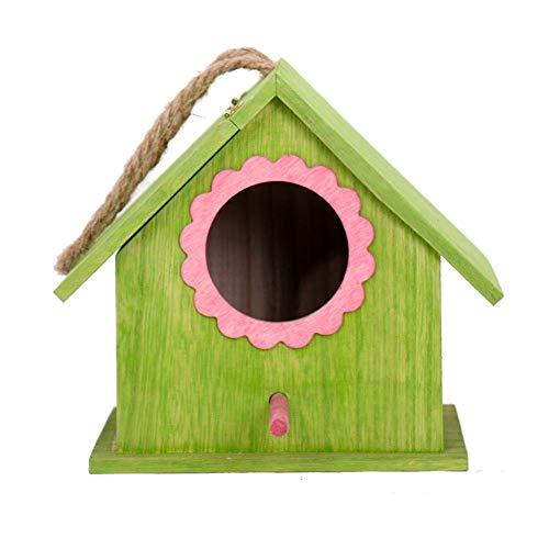 Sommer's Laden Mini Holz Hängend Vogelhaus Vogelhäuschen, 17×15×18cm Hängend Unigiftiges Vogelnest Zuchtbox, Geeignet Für Haus, Hof, Garten
