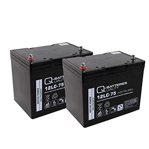 Blei Akku Batterie 2 x 12V/75Ah wie 77Ah für Rollstuhl Elektromobil Orthopedia Allround 970