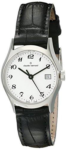 Claude Bernard Classic Women's Watch Analogue Quartz Leather Black 54003-3-BB