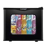Jiongzhuo Réfrigérateur Petit réfrigérateur à Porte Simple 17L Économie d'énergie Dortoir sans Givre à Refroidissement par air et à Refroidissement par air Maternelle Échantillon (Couleur : Noir)