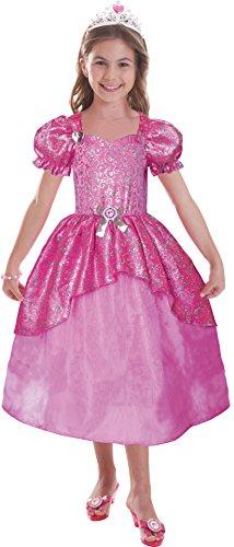 Schillerndes Barbie Prinzessinnen-Kostüm für Mädchen - 3-5 (Kostüme Ballerina Blaue)