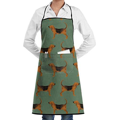 VAICR Kochschürze Küchenschürze,Apron Bib Green Bloodhound Fabric Apron,Women&Men Kitchen Bib Apron with or Cooking Baking Gardening,Easy to Clean