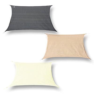 hanSe® Marken Sonnensegel 100% Polyester - wasserabweisend Rechteck 3,5x4,5 m verschiedene Farben von hanSe® bei Gartenmöbel von Du und Dein Garten