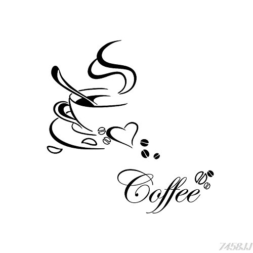 Wandtattoo Kaffee Küche Coffee Wohnzimmer Küche Cappucino Cafe Wandsticker Wandaufkleber...