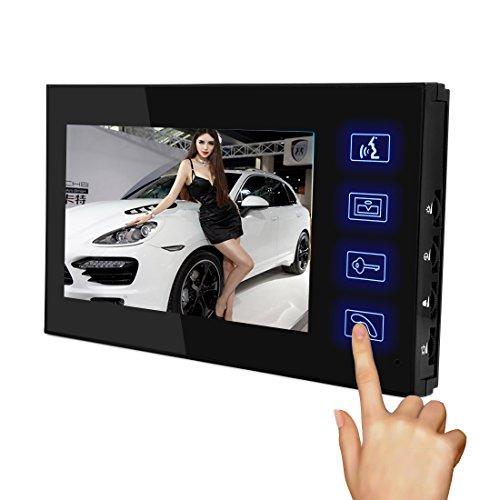 PUTECA 7 inch TFT LCD 700TVL 5 IR LED Night vision Camera Remote control ID card Keypad Wire Video Door Phone Doorbell Intercom System 1 VS 2