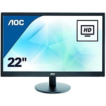 """AOC E2270SWN - Monitor de 21,5"""" (resolución 1920 x 1080 pixels, tecnología WLED, contraste 700:1, 5 ms, VGA), color negro"""