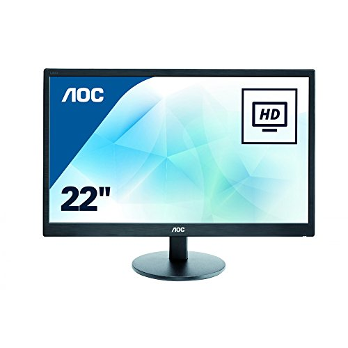 AOC E2270SWN Monitor PC Led 22 pollici, VGA, Nero