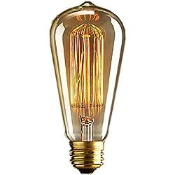 Edison Bombilla,E27 Edison Vintage Bombilla de Filamento 4W Antiguo LED Bombilla de Decorativa Cristal Lámpara 220V for Casa, Restaurante