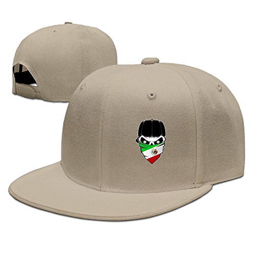 Awesome Mexican Flag Skull Cool Flat Bill Baseball Caps