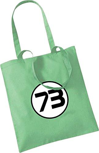 73 (Sheldon Coopers son numéro) pour le sac à main Vert - Menthe