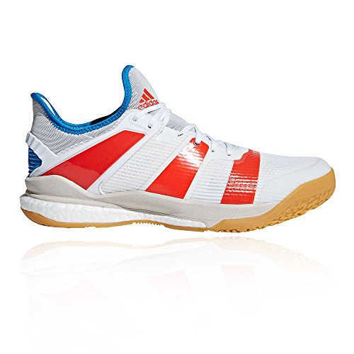 adidas Stabil X, Chaussures de Handball Homme, Blanc (Ftwbla/Rojsol/Azubri 000), 43 1/3 EU