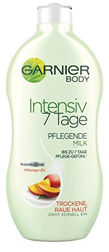 Garnier Body Intensiv 7 Tage Pflegende Milk, mit Mango-Öl, für trockene und raue Haut, feuchtigkeitsspendend, 6er-Pack (6 x 400 ml)