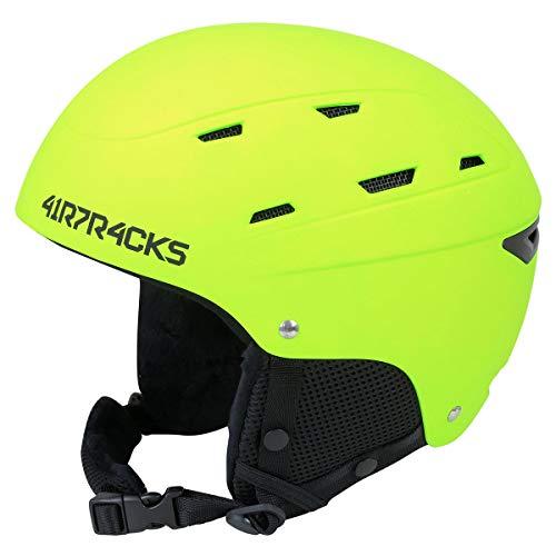 Airtracks Ski- und Snowboardhelm Savage T2X mit Ventilationssystem und stufenloser Anpassung - neon - L -