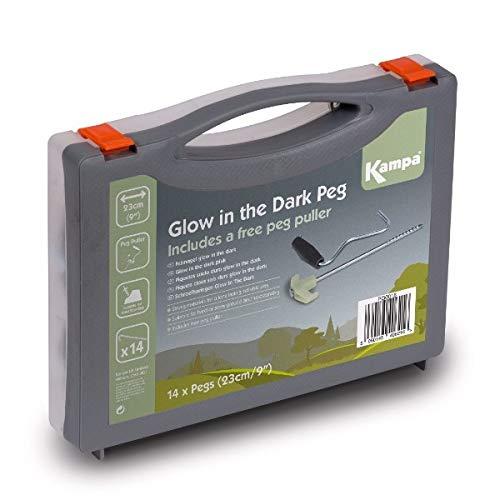 Kampa Glow in The Dark Steel Schraube Peg 1+ Zelt Peg Abzieher (In Glow The Dark Hats)