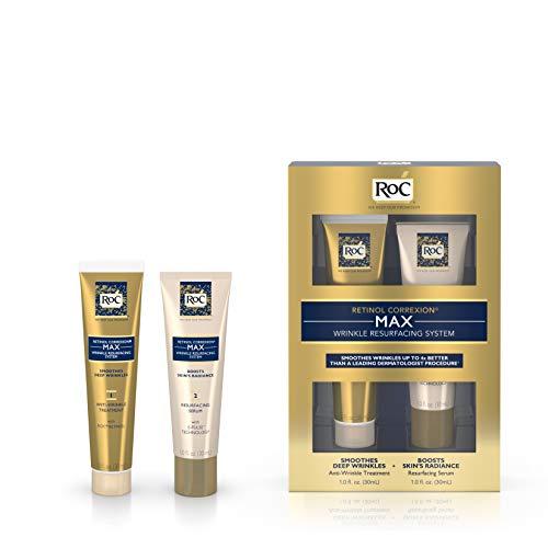 Roc - Retinol Correxion Max Wrinkle Resurfacing System: Anti-Wrinkle Treatment 30Ml + Resurfacing Serum 30Ml 2Pcs - Soins De La Peau