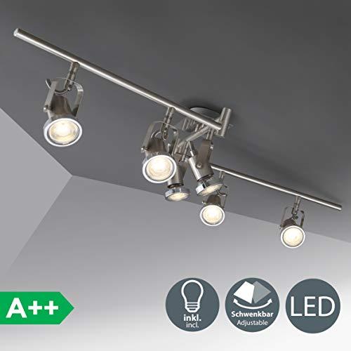 Lámpara techo orientable I incl. 6 bombillas 5 W