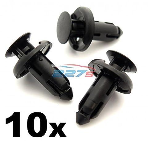 10x Befestigung Clips - Seitenschweller / Schwellerleiste 8mm für Honda (90505-SX0-003 / 90505SX0003)