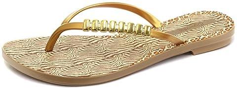 Grendha Brasil Exotic Damen Sandalen, Gold, Größe 39