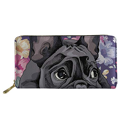 Coloranimal Damen Clutch Zoo Tiermuster Mehrfarbig French Bulldog Design 20cm(L) x2.5cm(W) x11cm(H) -