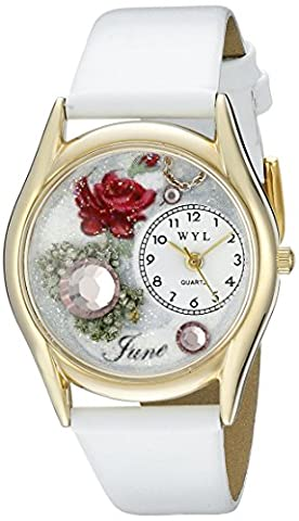 Whimsical Watches - C-0910006 - Montre Mixte - Quartz - Analogique - Bracelet Cuir Multicolore