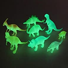 SUPER TOY Kid's Toys and Hobbies Night Light Noctilucent Dinosaur Figure - Set of 8