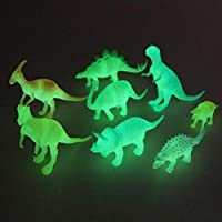 SUPER TOY Night Light Noctilucent Dinosaur Figure (Multicolour) - Set of 8