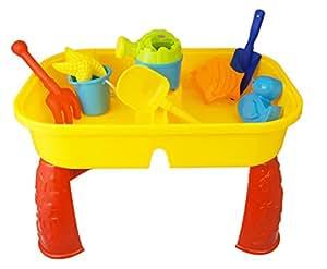 sand und wasser tisch spielzeug set garten sandkiste wasserspiel kanne schaufel sandbeh lter. Black Bedroom Furniture Sets. Home Design Ideas
