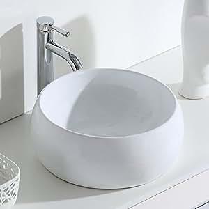 eridanus serie luciano waschschale keramik aufsatz waschbecken rund waschsch ssel 40 cm. Black Bedroom Furniture Sets. Home Design Ideas