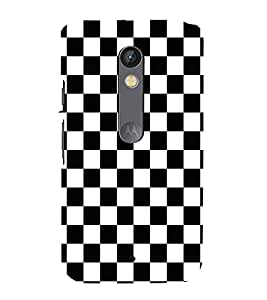 FUSON Chess Board Racing Flag 3D Hard Polycarbonate Designer Back Case Cover for Motorola Moto X Play