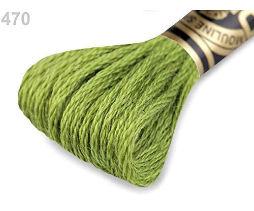 1stück 470 Lime Green Stickgarn Dmc Mouliné Spécial Cotton, Garne Mouline, Stricken, Häkeln Und Sticken, Kurzwaren