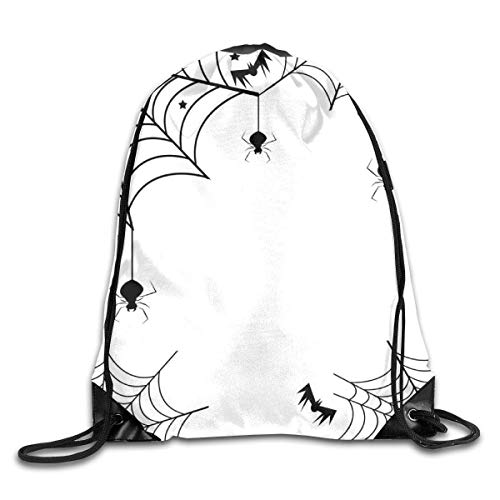 vbndgfhjd Bundle Backpack Spider Web Halloween Outdoor Large Capacity Shoulder Drawstring Bags