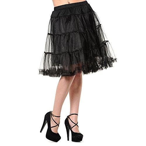 Banned Langer Petticoat (Schwarz) - Small