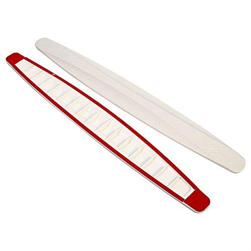 Preisvergleich Produktbild 1Paar Auto Stoßstangen Schutz Streifen Flexibel Carbon Fiber Vorne Hinten Schutz Abdeckung Anti-Kratzer ( Farbe : Weiß )