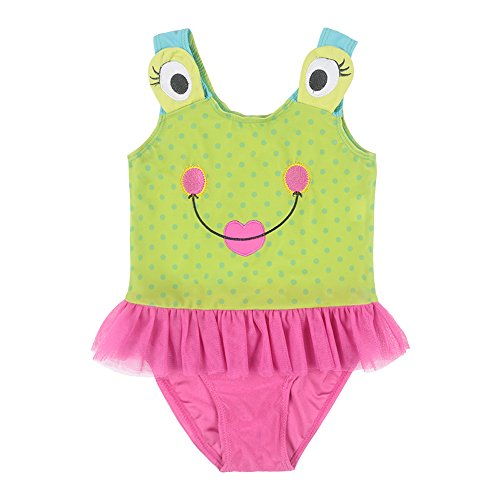 DAXIANG Lovely Children Infant Toddler One-Piece Cartoon Frog Eyes Polka Dots Swimsuit