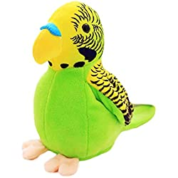 DNelo Juguetes de Peluche Lindo eléctrico Peluche Felpa Que Habla Loro grabando alas de educación niños Juguete-Verde