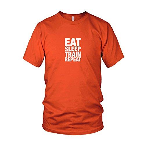 Eat Sleep Train Repeat - Herren T-Shirt Orange