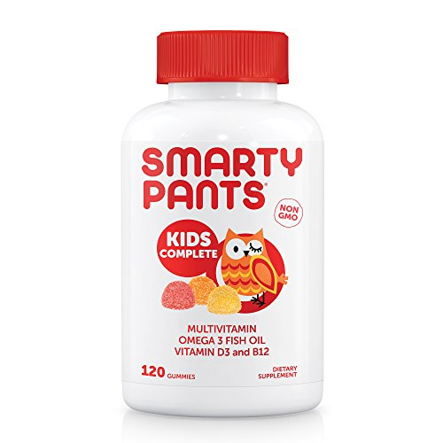 Smartypants Gummy Vitamins with Omega 3 Fish Oil and Vitamin D, 120 Count by Smartypants
