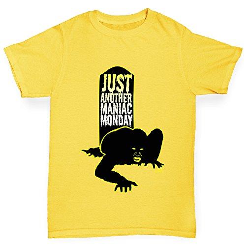 TWISTED ENVY Jungen T-Shirt Maniac Monday Print Age 12-14 Gelb