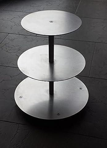 Tortenständer Rund Tortenetagere Aluminium 3 Etagen, Hochzeitstortenständer Etagere Ø 20 - 25 - 30 cm