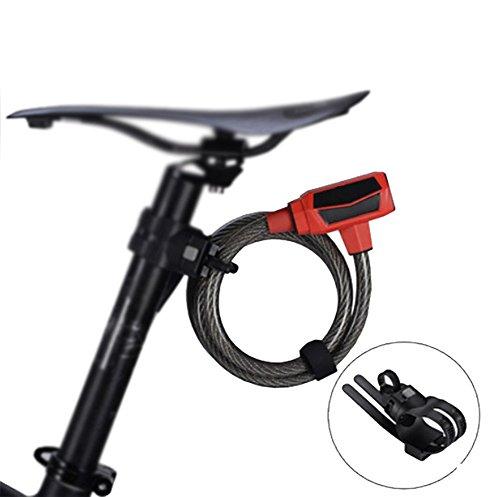 RUIX Fahrradschloss Fahrrad-Diebstahlsicherungs Stahl Kabelschloss Reitausrüstung