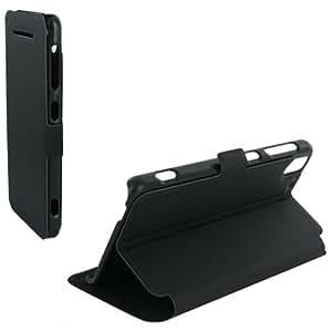 Housse pour HTC Desire 620 folio stand case noire