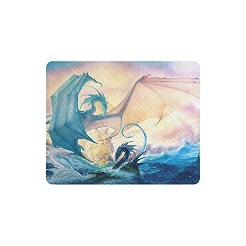 Christmas Day Home Decor Wasser Drachen Sea Dragon Schiff Muster Comfort Reinigungstuch Bezug rutschfeste Rechteck Mousepad 25 x 20 cm (Sea Decor Home)