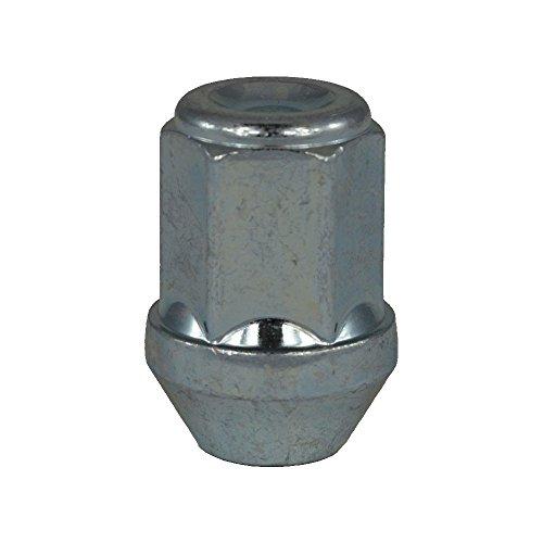 EvoCorse Écrou de roue fermé M12x1.25, Clé 19, Longueur 34 mm, Blanc galvanisé, 4 pcs