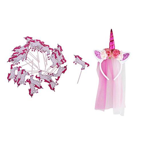 rn Schleier Stirnband Kuchen Toppers Mädchen Kostüm Party Fancy Dress up (Cupcake Kostüme Für Kleinkind)