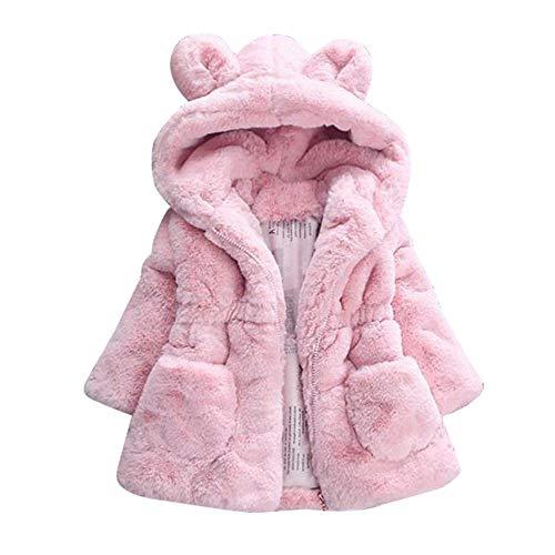 Kobay Baby Girls Coat Autumn Winter Kids Baby Girl Bunny Winter Hooded Cloak Jacket Warm Tops Outerwear Suit for 0-6 Years Baby