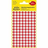 10 x Avery Zweckform Markierungspunkte 8mm Durchmesser rot VE=416 Stück